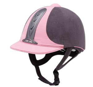 This is a quite appripriate helmet and I have seen my British instructor Laura wearing it. Notice that it can cover the back of the head. Picture from http://www.riding-hat.co.uk