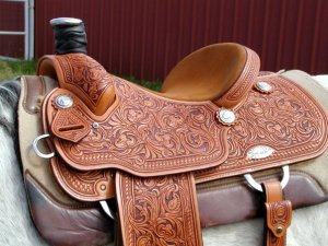 A lovely western saddle!  Picture from http://www.hillmansaddlery.com