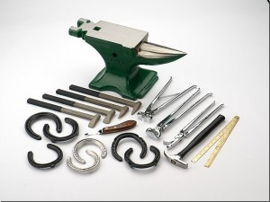 Farriers' tools look like torture instruments! Picture from http://horse-shoeing.net